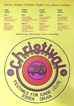 Christival 1976 in Essen, Plakat